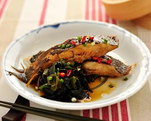 海菜烧鲽鱼