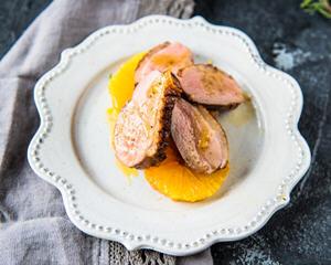 酸甜味儿的橙香鸭胸