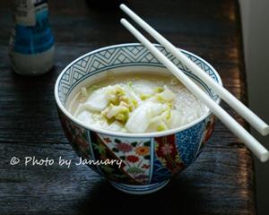 黄芽菜炒年糕