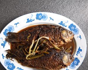 香葱烧鱼上海菜