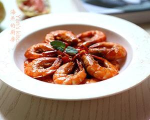 番茄酱烧基围虾