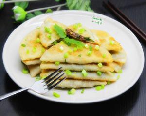 鲜肉香葱煎饼的做法_图解好吃的鲜肉香葱煎饼怎么做