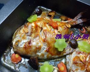 烤箱烤鲳鱼