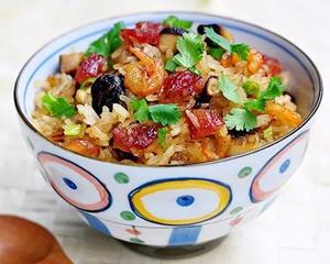 腊肠炒糯米饭