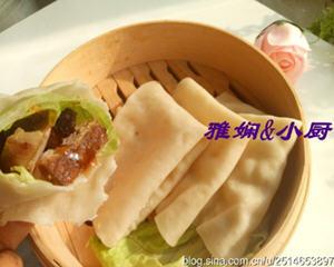 蒸饼卷牛肉