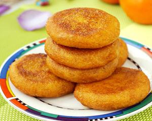 糯米粉豆沙柿子饼