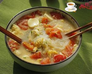 番茄豆腐粉丝蛋花汤