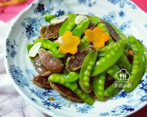 双味腊肠炒碗豆